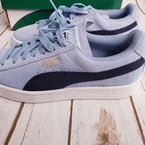 Puma Shoes - Classic Light Blue Suede Puma Sneakers -Size 7